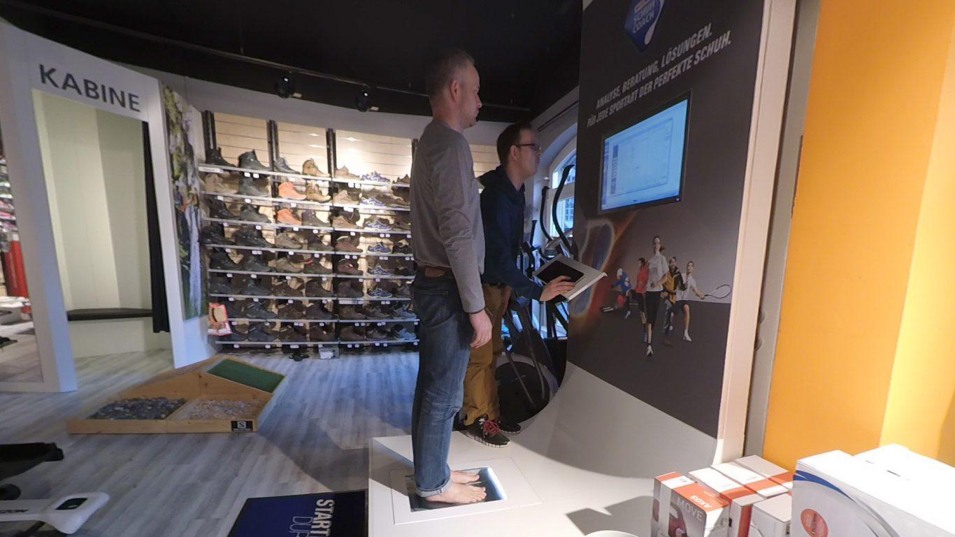 Laufschuh-Beratung - Fußabdruck-Scanner