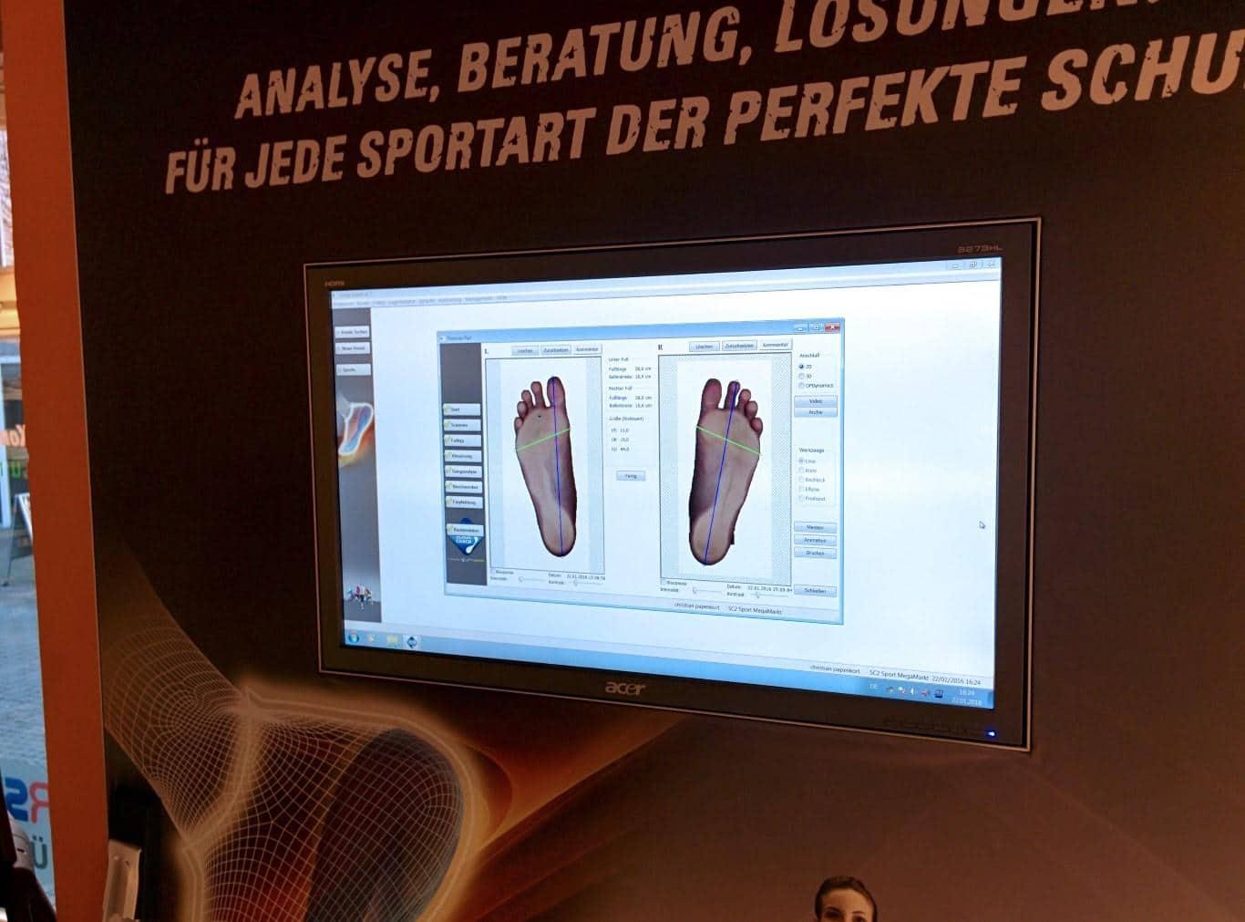 Laufschuh-Beratung - Fußabdruck-Analyse