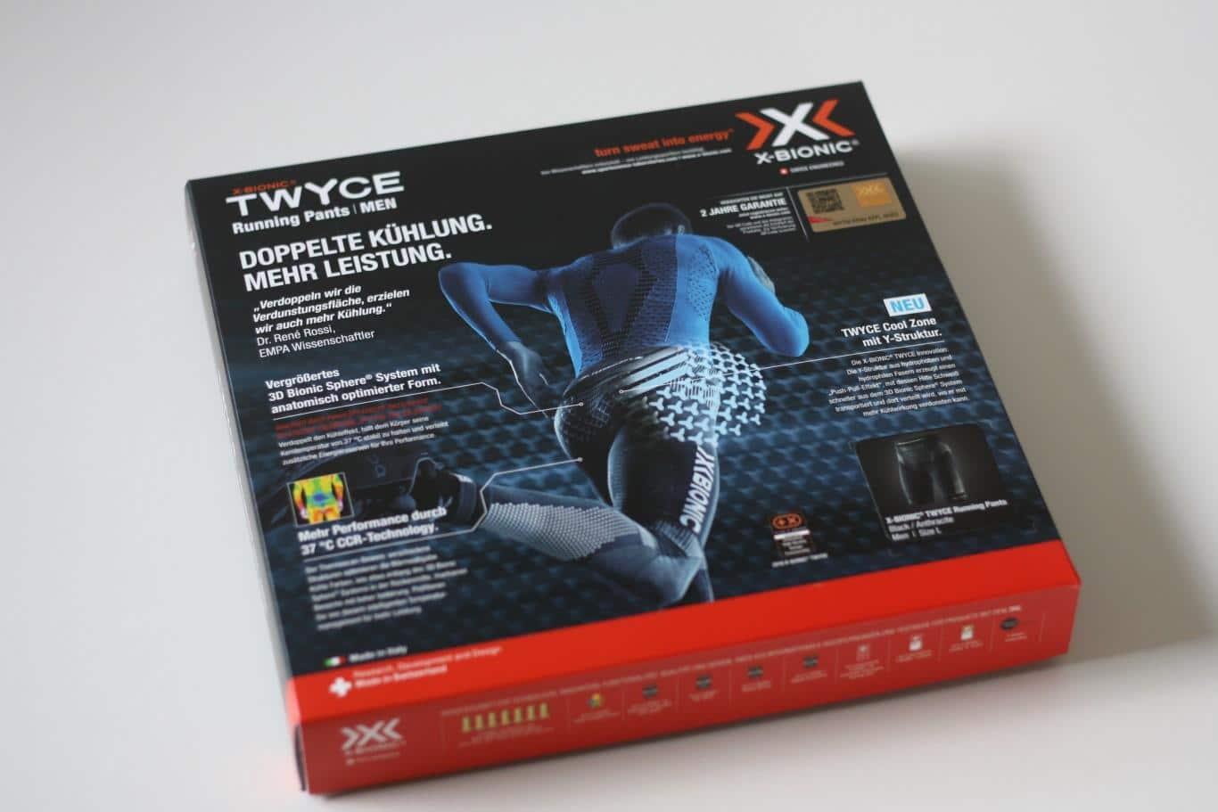 Verpackung der Running Pants