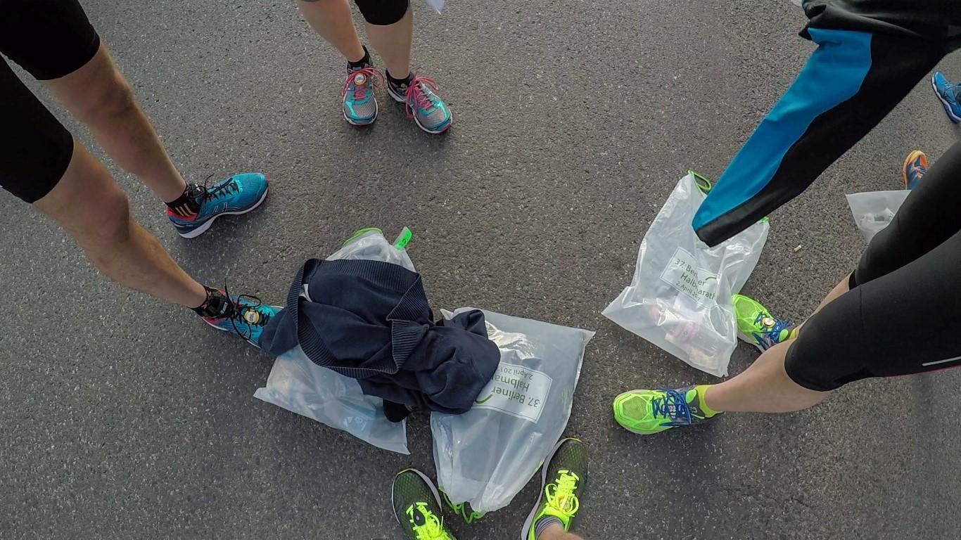 Letzte Vorbereitungen beim Berlin Halbmarathon