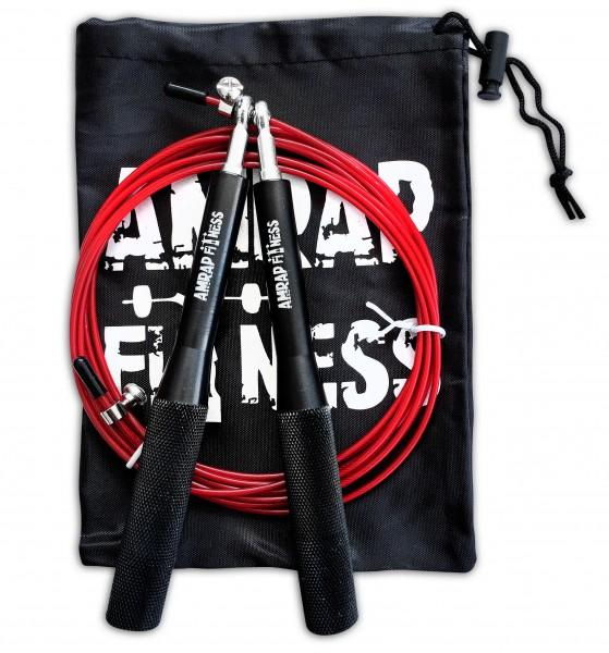 (c) AMRAP Speedrope Solid Black Edition