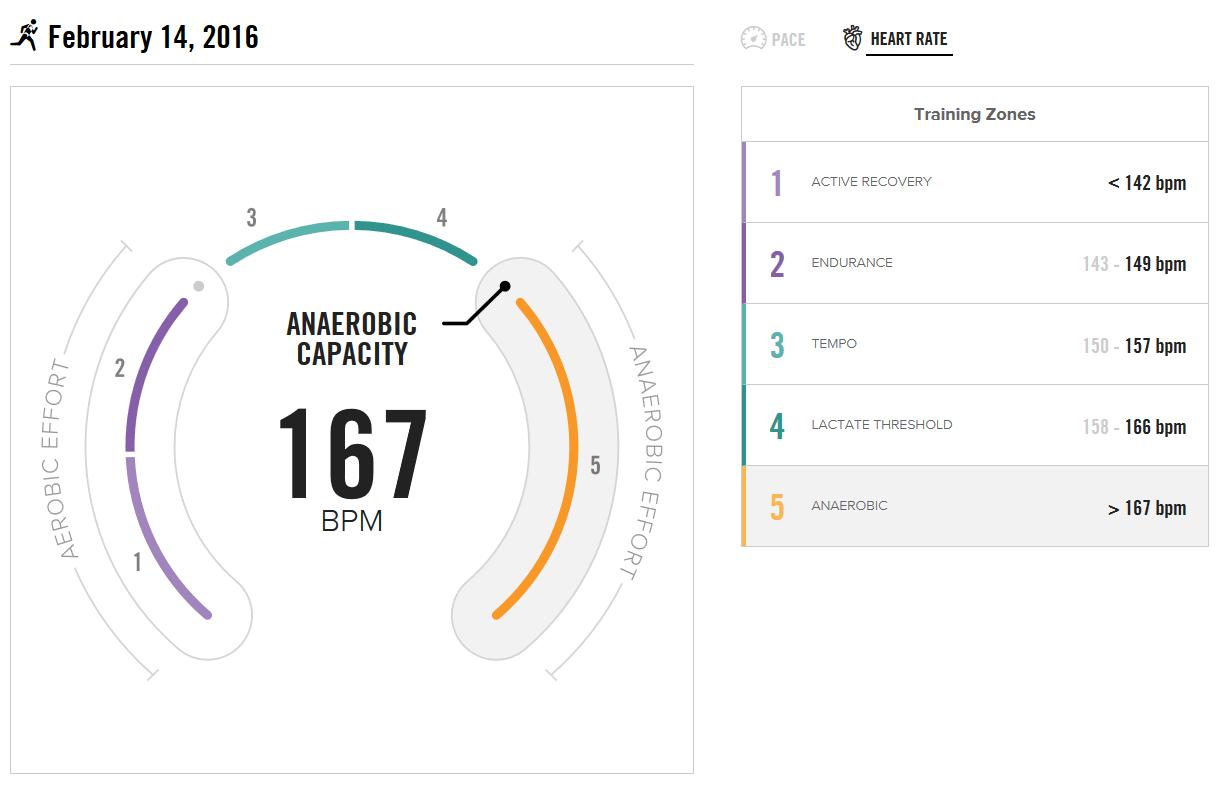 BSXinsight Endurance Test vom 14.02.2016 - Herzfrequenz