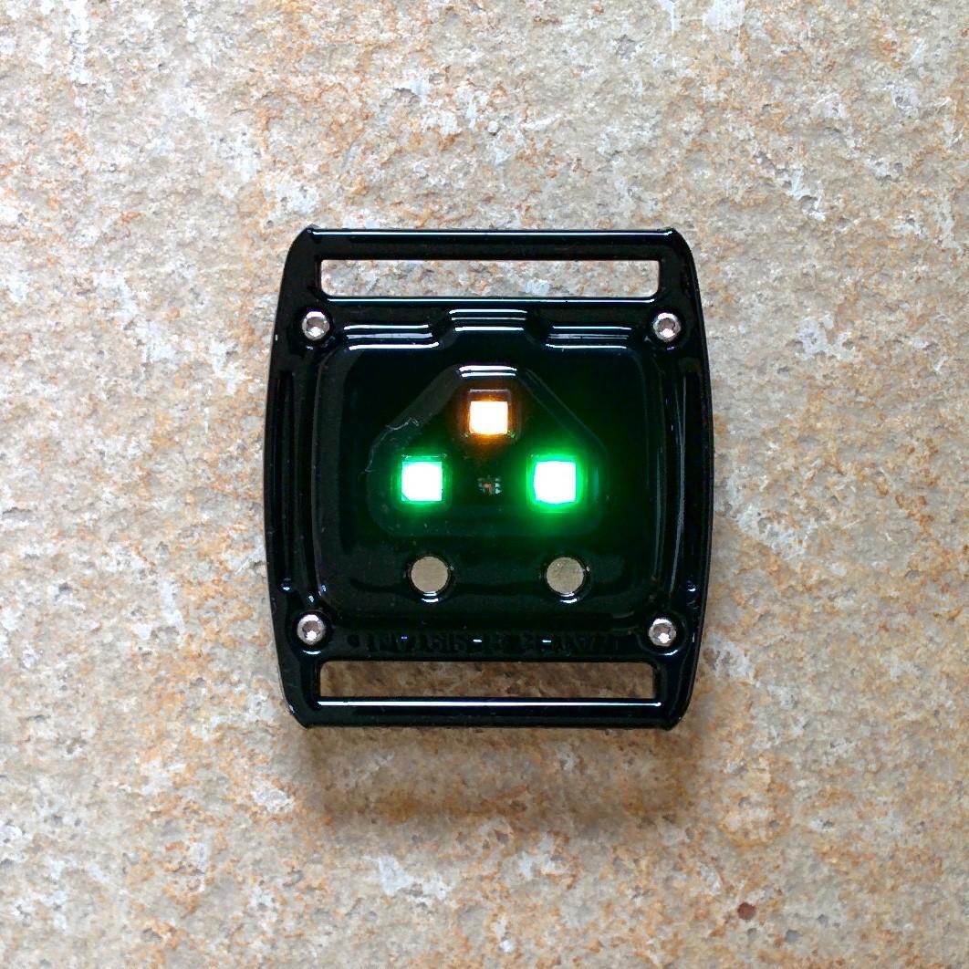 Scosche Rhythm Plus - Rückseite des Sensors