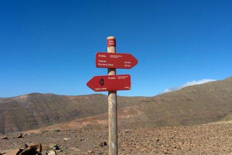 Lauf zum Pico de la Zarza - Hinweg