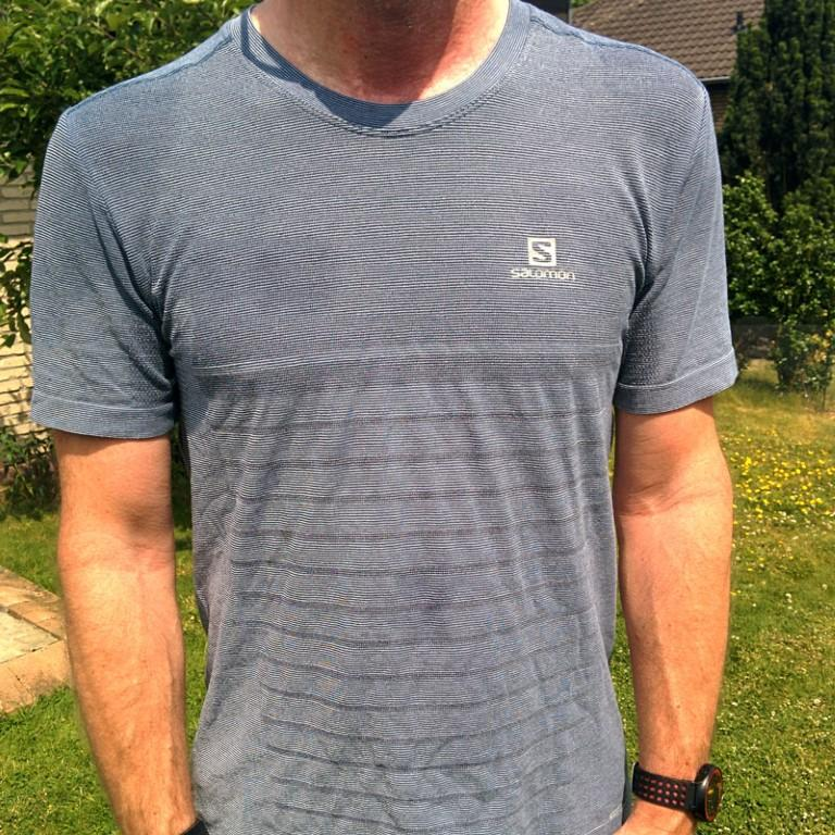 Salomon Seamless Elevate Tee - nach 10 km bei 30°C