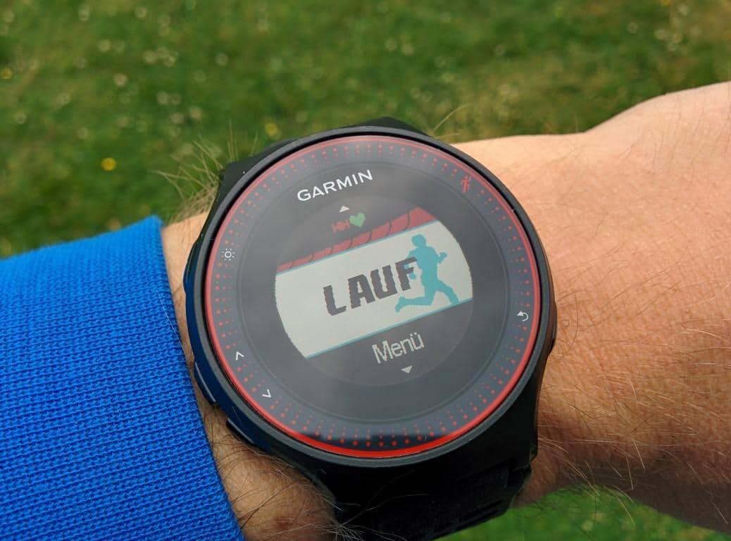Garmin Forerunner 225: GPS-Fix nach Inbetriebnahme