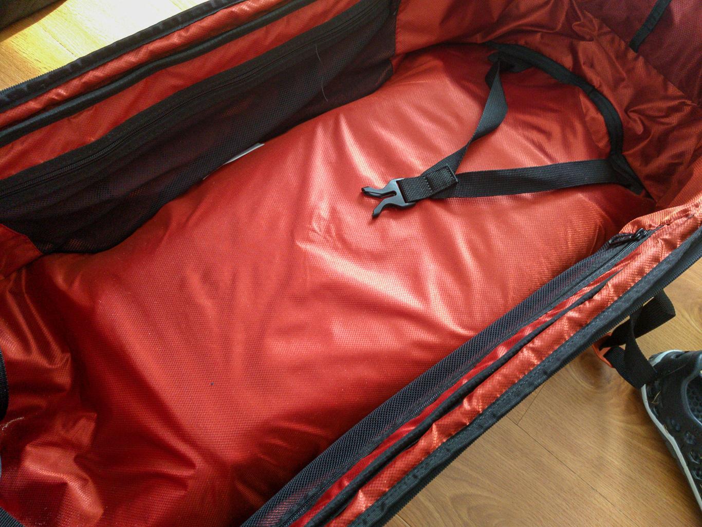Volumenbeschränkung durch Nutzung der Rückentasche