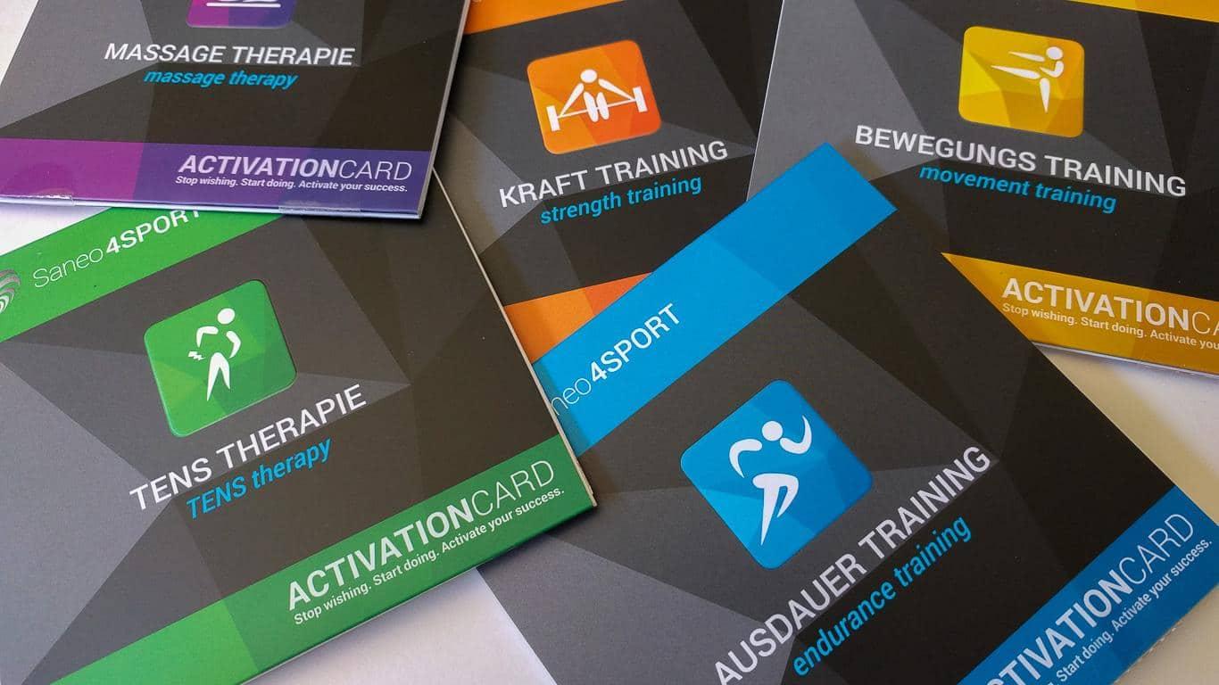 Aktivierungskarten für die Programmpakete