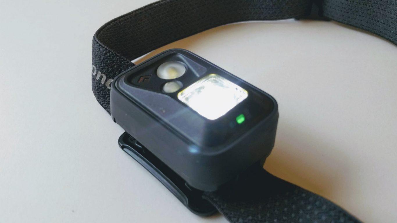 Punktlicht + Batterieanzeige (grün)