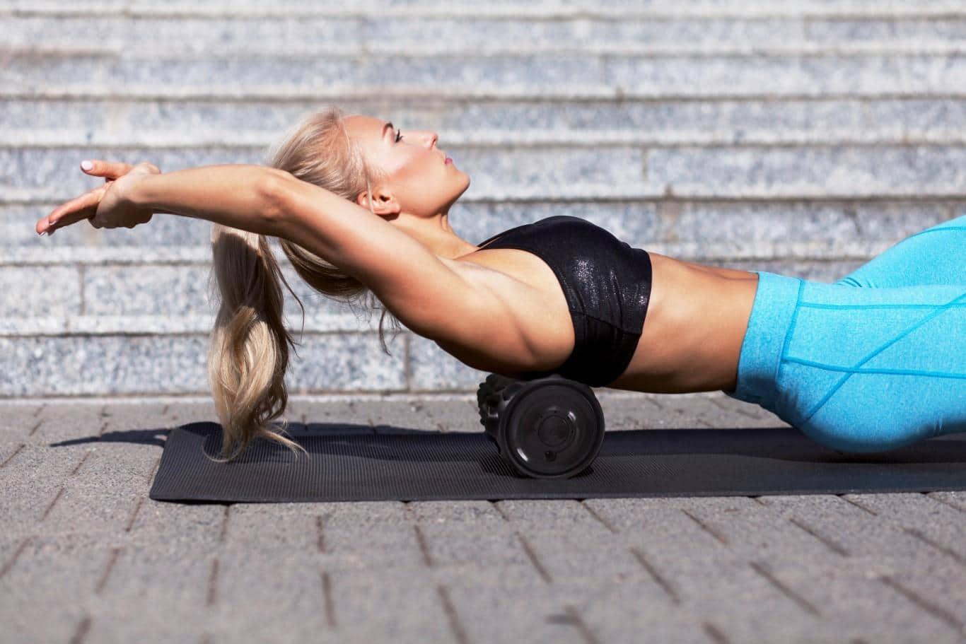 Faszien Workout mit Faszienrolle oder Massagerolle