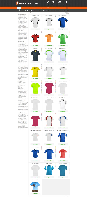 Auswahl Laufshirts
