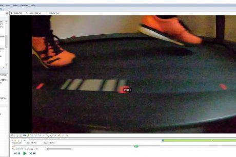 Laufband Kalibrierung mit Kinovea